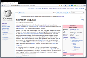 Tangkapan layar Wikipedia bahasa Inggris, 13 Mei 2010